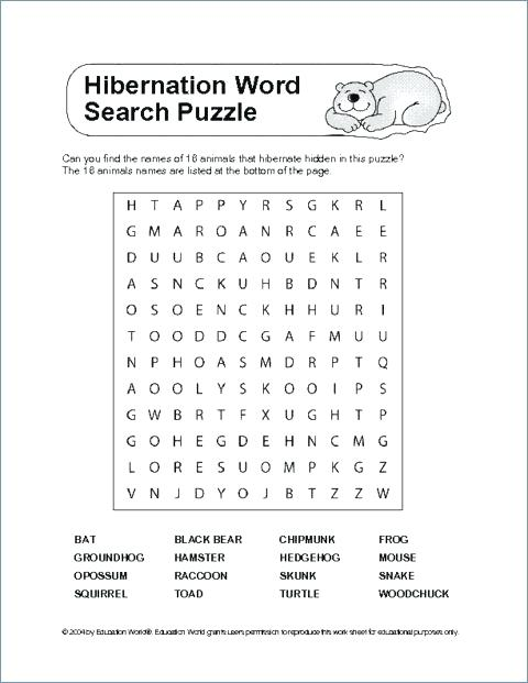 Hibernation Worksheets For Kindergarten Free 2nd Grade Worksheet