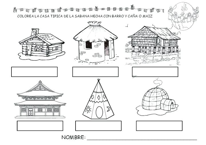 Worksheet Homes Around The World
