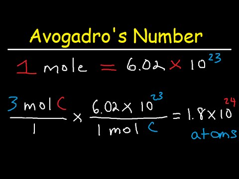 Avogadro's Number, The Mole, Grams, Atoms, Molar Mass Calculations