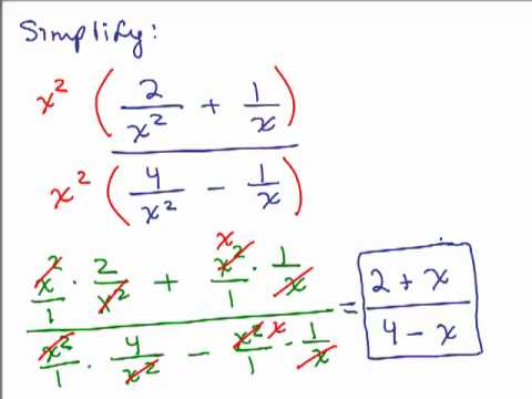 Simplify Complex Fractions 2