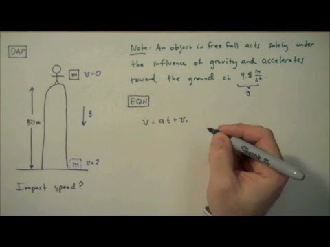 How To Solve A Free Fall Problem