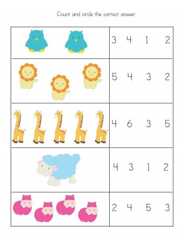 Worksheet For Preschoolers In Math