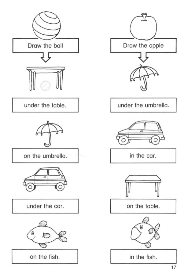 In On Under Worksheets For Kindergarten Pdf  265646