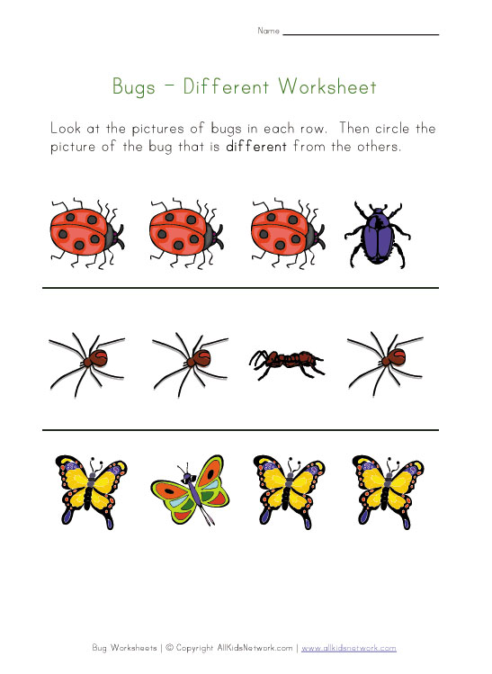 Insect Printables For Preschoolers