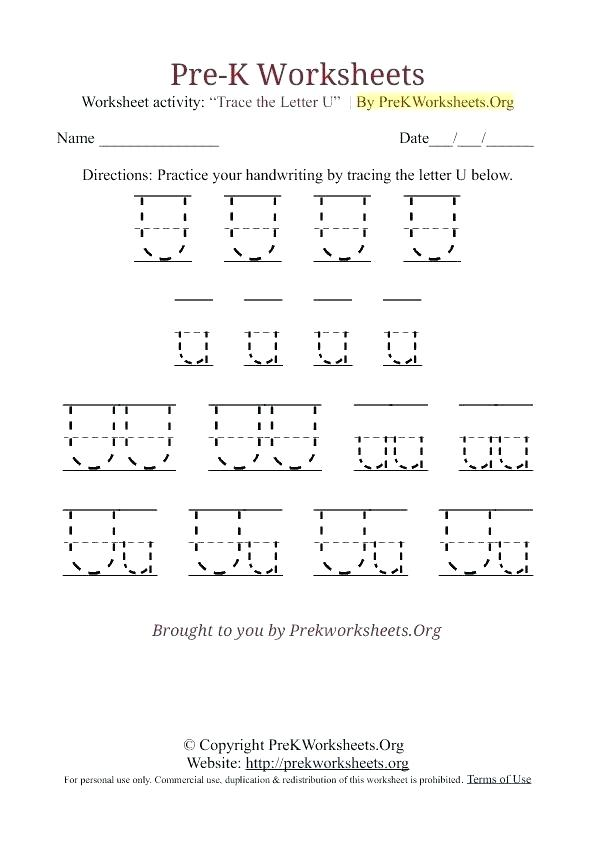 School Handwriting Worksheets Free Pre K Printable – Egyptcareers Info
