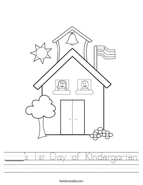 Kindergarten Drawing Worksheets Worksheets For All