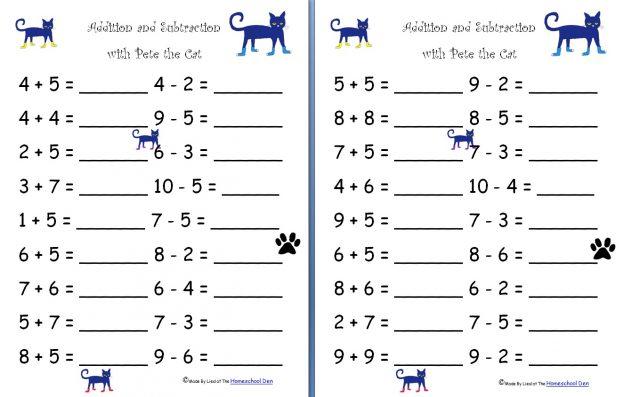 Kindergarten Math Worksheets Addition And Subtraction Worksheets