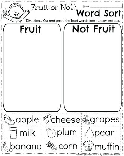 Cut And Paste Science Worksheets