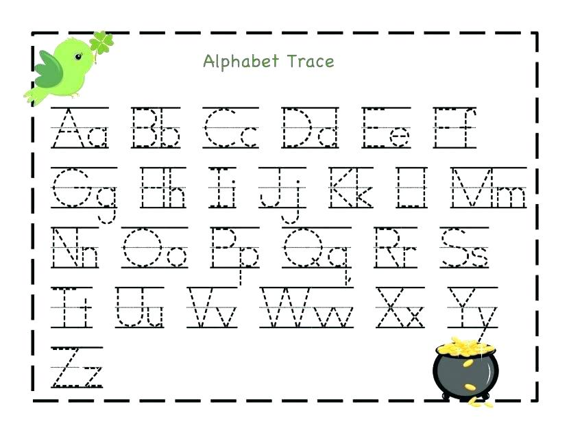 Kindergarten Letter Worksheets Free Abc Tracing Pre – Egyptcareers