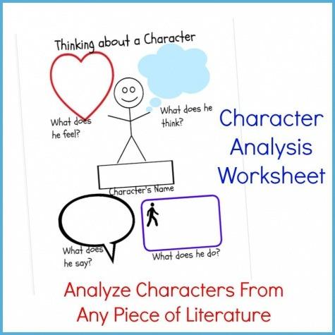 Elementary Character Analysis Worksheet