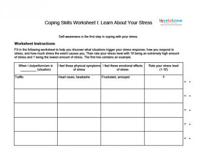 Managing Anxiety Worksheets Worksheets For All