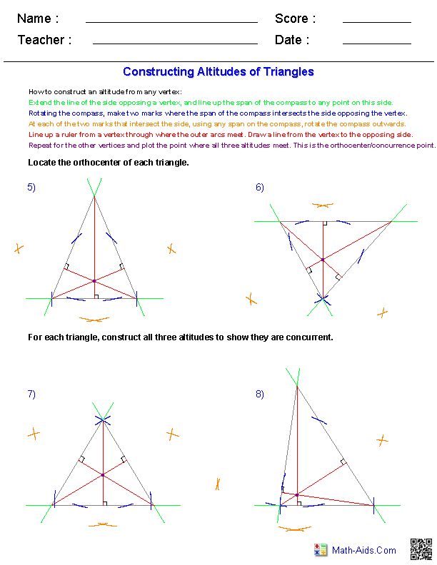 Math Worksheets Grade 7 Geometry  574567