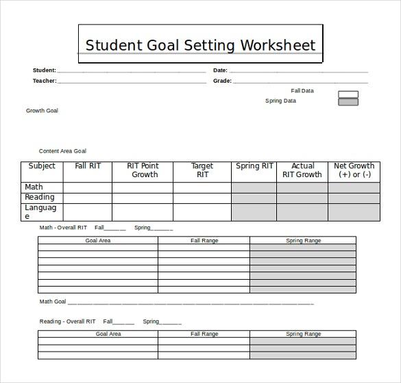20+ Worksheet Templates Free Download Ms Word 2010 Format