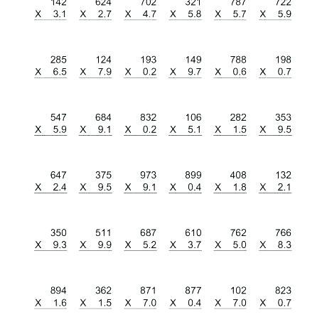 Single Multiplication Worksheets – Satfiles
