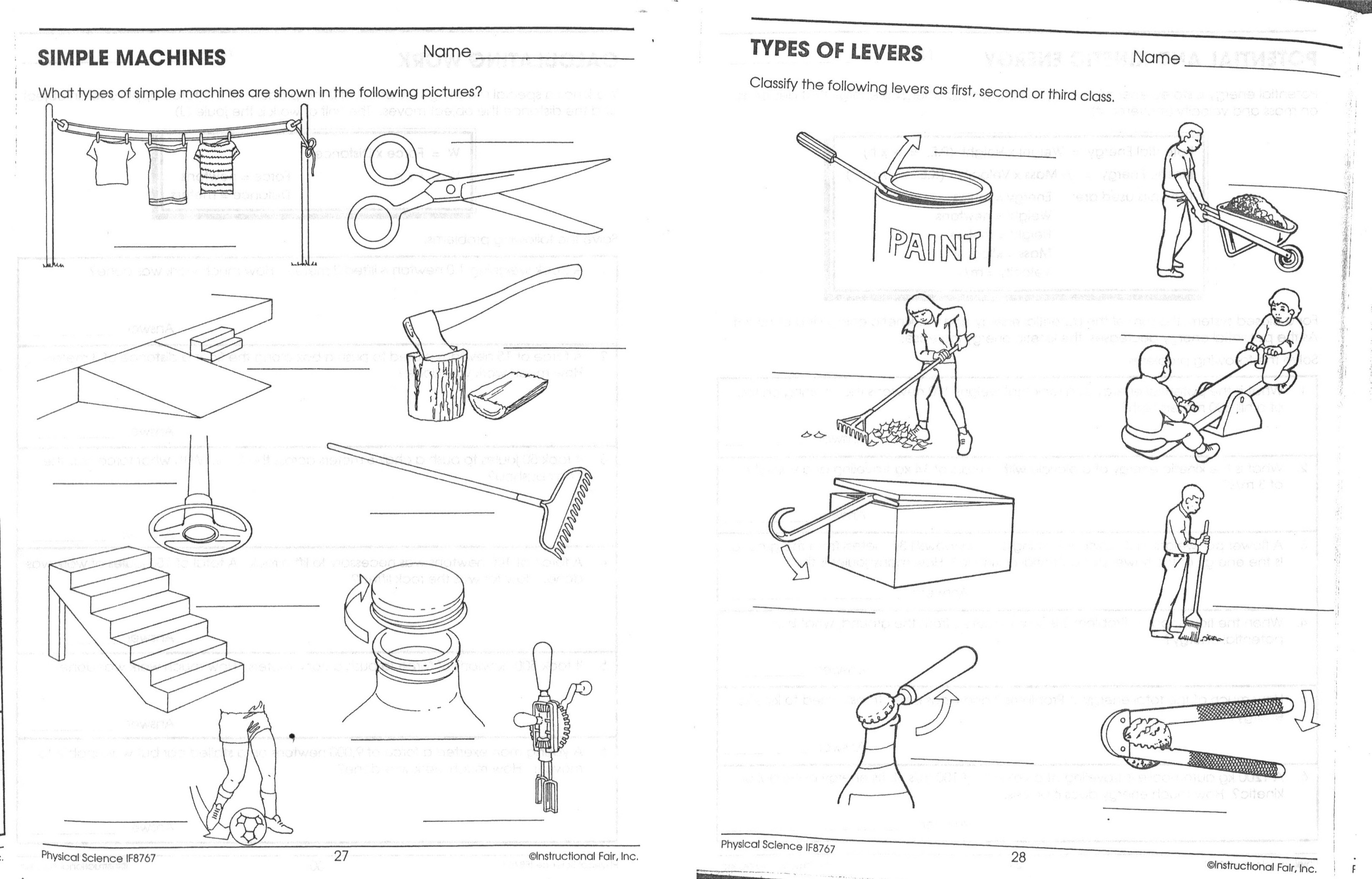 Kinetic Potential Energy Worksheet 5th Grade