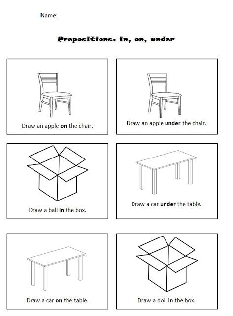 Preposition Worksheets For Kindergarten  17 Worksheet