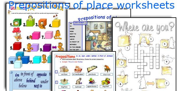 Prepositions Of Place Worksheets