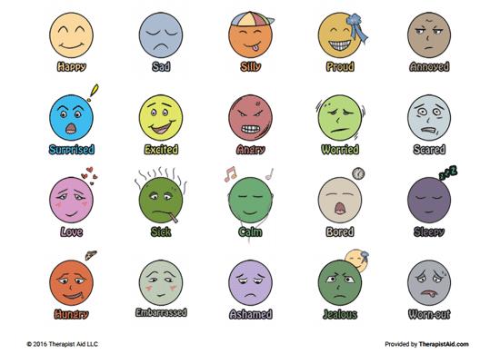 Printable Emotion Faces (worksheet)