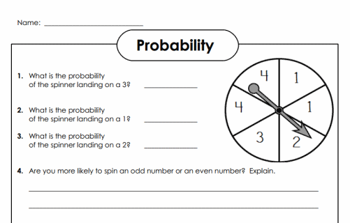 Probability Worksheets Grade 7 Worksheets For All