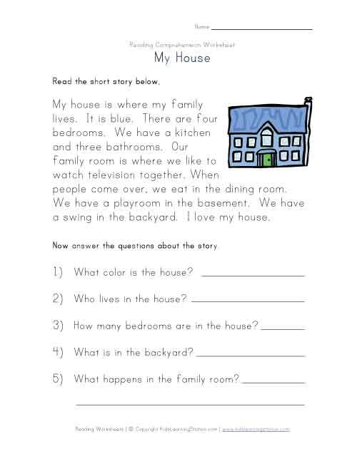 Reading Comprehension Worksheets Elementary Worksheets For All