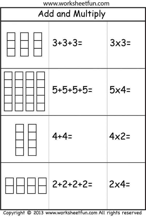 Repeated Addition Worksheets 3rd Grade Worksheets For All