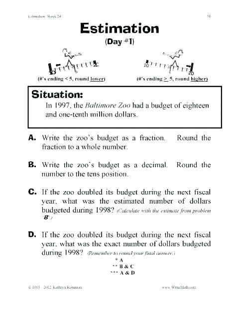 Rounding Worksheets 5th Grade Rounding Decimals Worksheets Grade