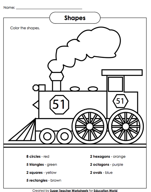 Super Teacher Shapes Worksheet