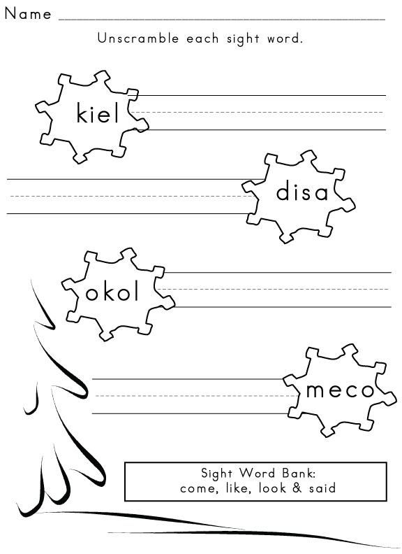Free Sight Word Worksheets And Printables