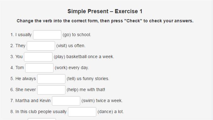 Simple Present Worksheet Archives