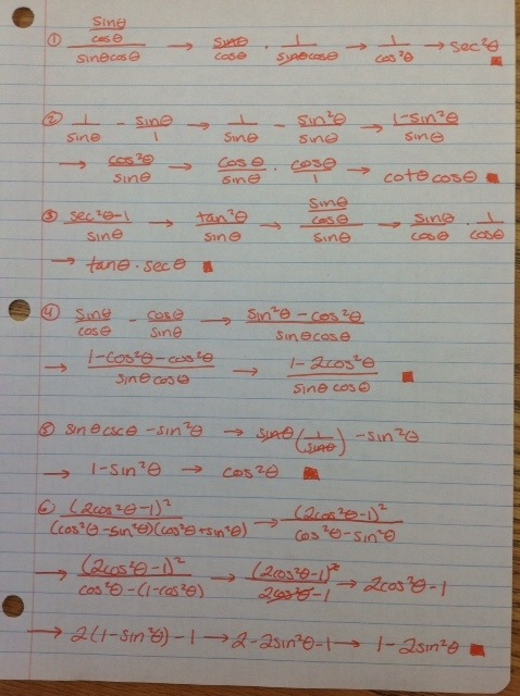 Simplifying Trigonometric Expressions Worksheet Worksheets For All