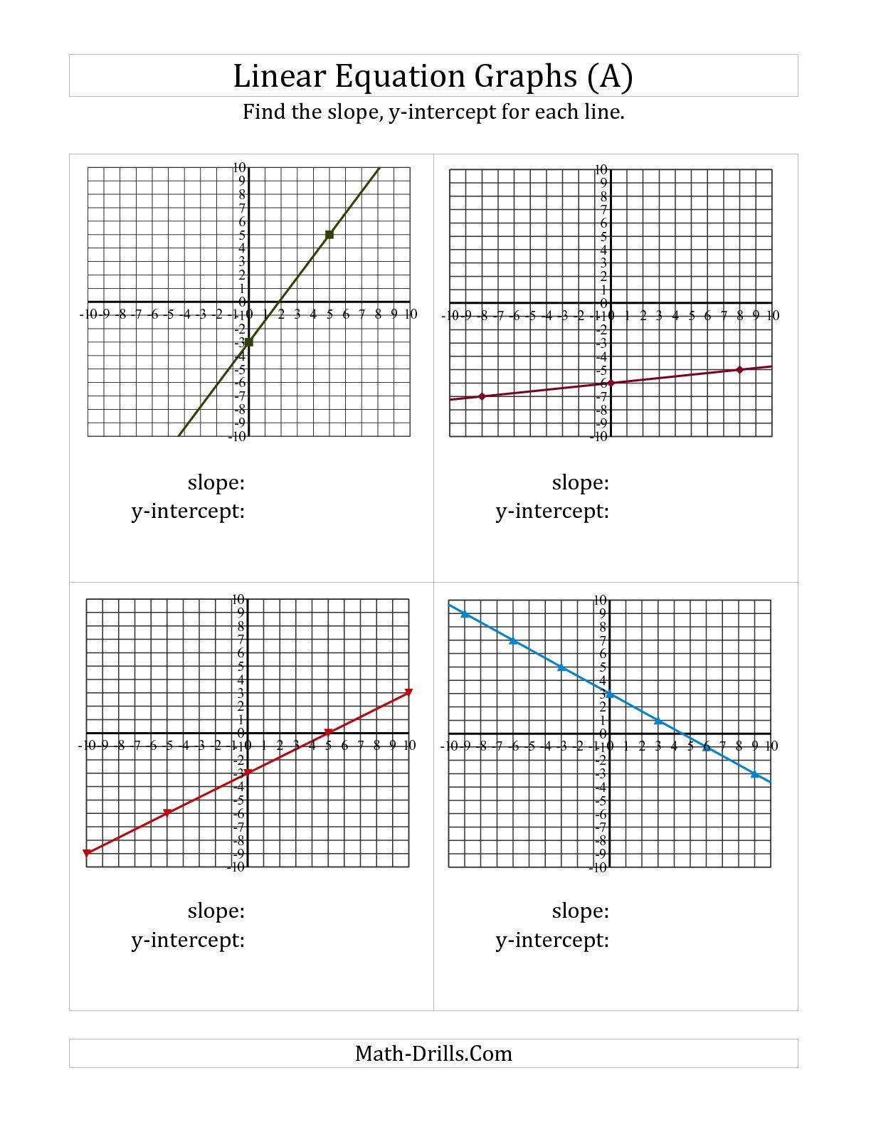 Worksheet Using Slope Formula