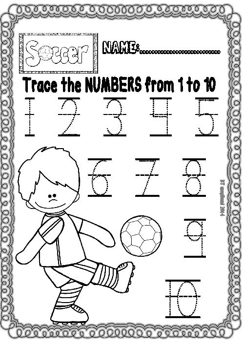 Soccer Fun Set (ready To Print Worksheets For Maths And Ela
