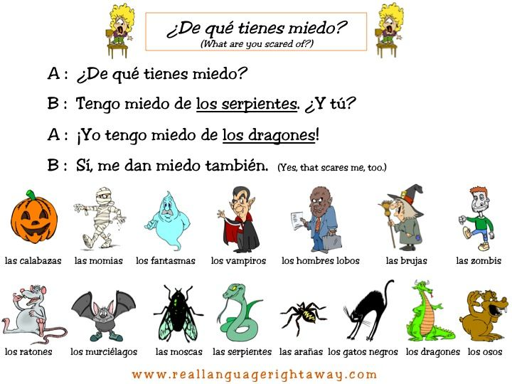Halloween Worksheet In Spanish