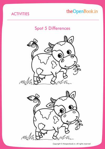 Spot The Difference Worksheets For Kindergarten