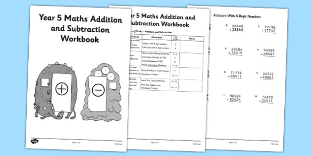 Year 5 Maths Addition And Subtraction Workbook