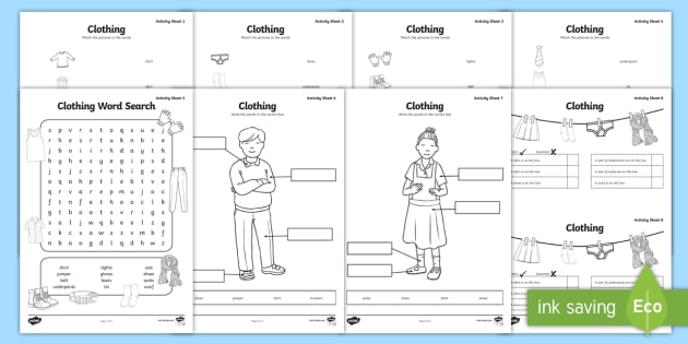 Clothes Worksheet   Activity Sheets