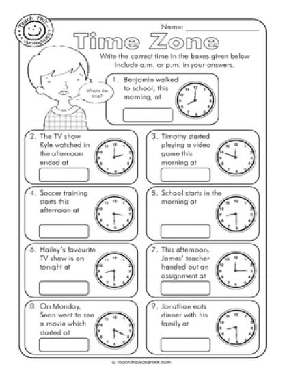 Time Zones Worksheets  Time  Alistairtheoptimist Free Worksheet