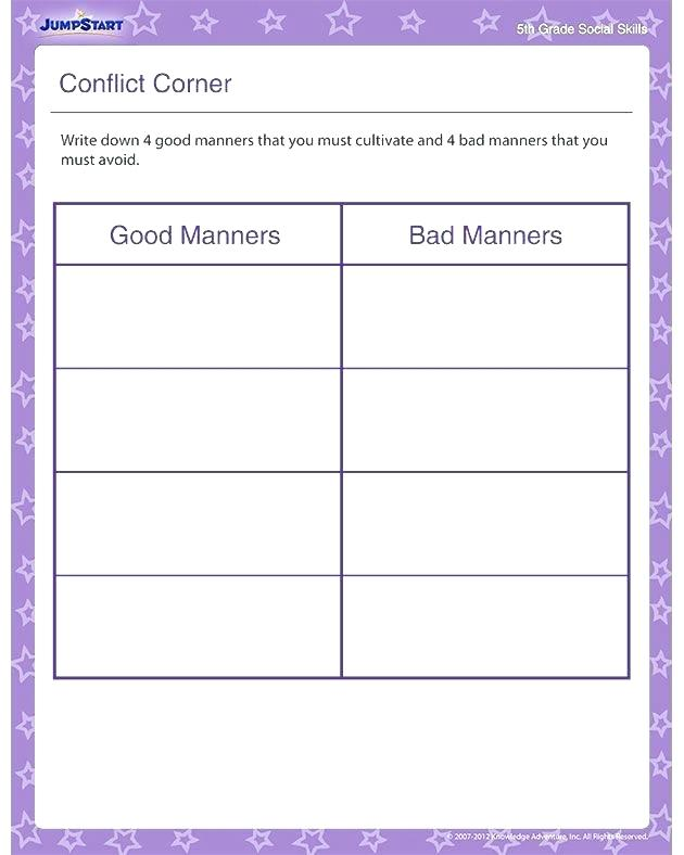 Teaching Manners Worksheets Best A Smart Kids Images On Table Good