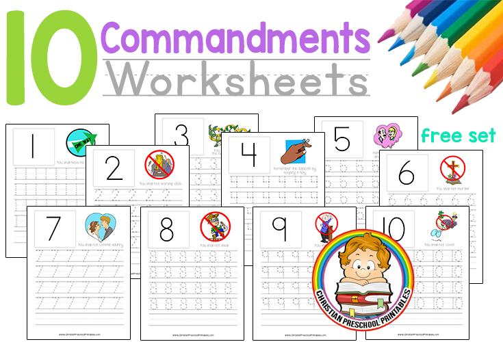 Ten Commandment Worksheets