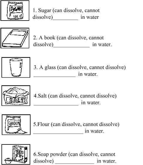 Science For Primary School ( Year 2)  Unit 7   Exercises
