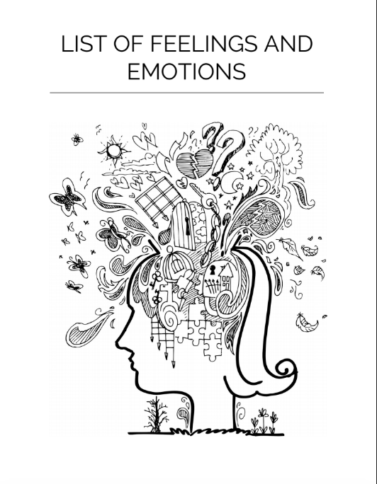 List Of Human Emotions And Feelings  Feelings Chart Free To Download