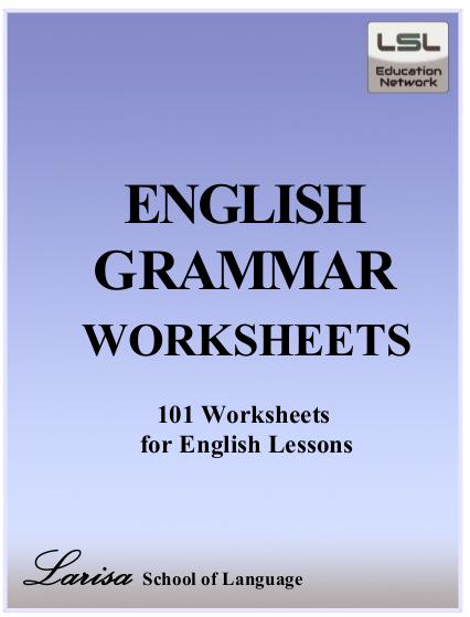 English Grammar Worksheet Book Pdf Ukraine