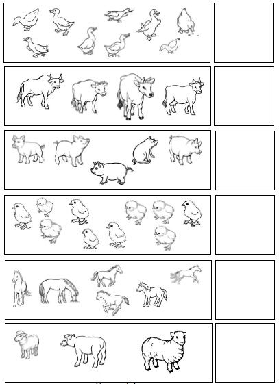 Farm Animal Count And Write Numbers Worksheet