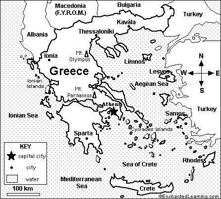 Ancient Greece Map Worksheet Photos