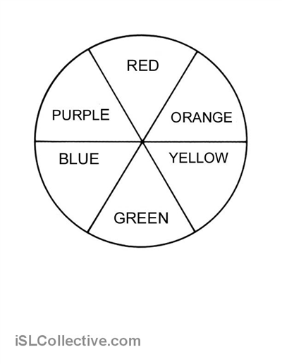 Colour Wheel Worksheet