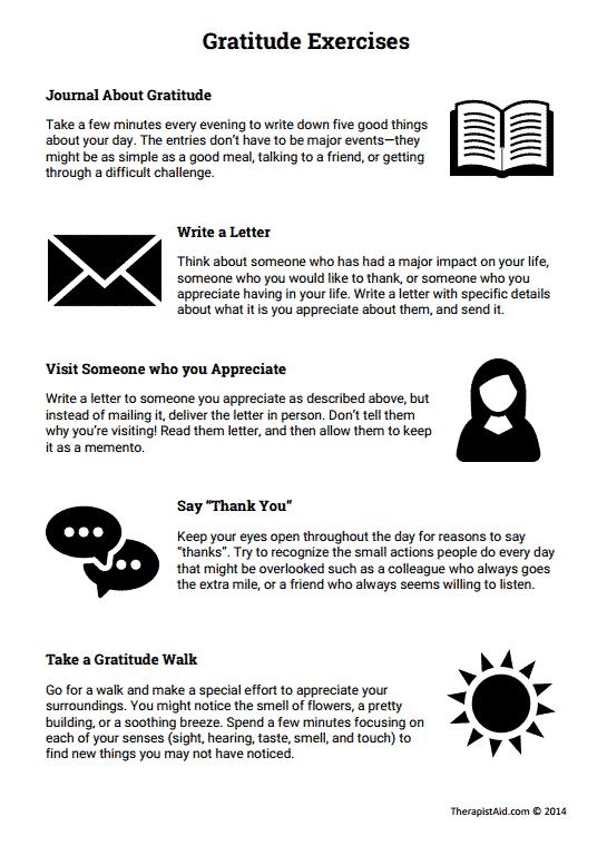 Gratitude Exercises (worksheet