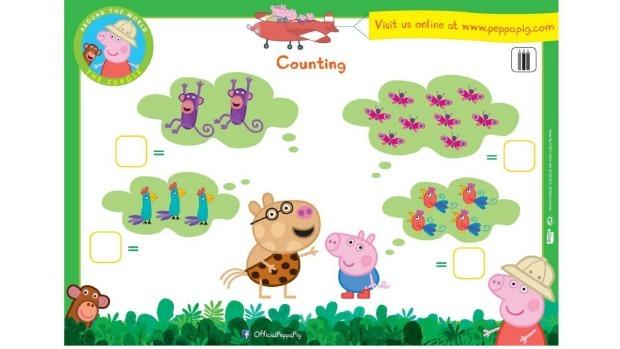 Peppa Pig Activity Sheets