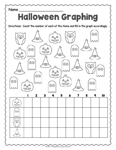 Free Printable Halloween Graphing Worksheet