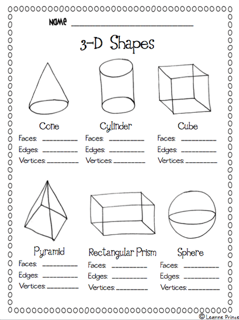 3d Shapes For Grade 2 Worksheets For All