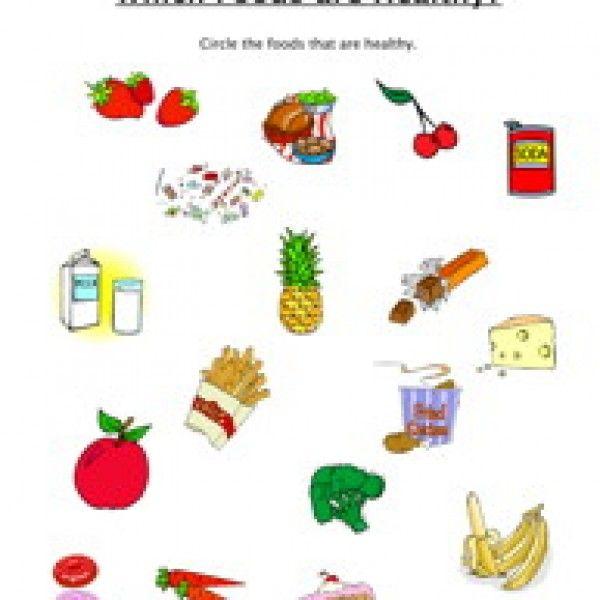 Healthy Food Worksheets Grade 2 के लिए चित्र